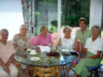 Lunch hosted by Joyce Koch McLean. Doris, Irene, Jean, Mary Ann, Joyce and Nancy.