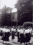 From the past... Memorial Day Parade; far left Kathleen Gibson class of 1961; 2nd unknown; 3rd Louise Cherubini '