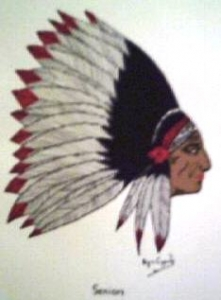Chief Rahwack from RHS Yearbook 1934. Artist Unknown