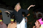 Marilyn Egolf, table Dancing in Mexico during 65th birthday party
