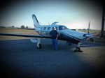 Eddie Dulik & his Piper Mirage  10/12/15 Monmouth Executive Airport