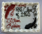 RHS Class of '65's 50th Anniversary Cake  10/10/15 River Queen Cruise