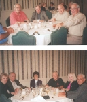 Above: Art, Ted, Bob and John. The headless one is Leo. below: Barb, Billy, Barb, Cyg, Irene and Rip.