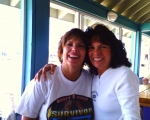 Marylin Conforti Koczan '69 and Donna Faughnan Wohltman '69 very drunk at 6am at Jenkinsons in Pt Pleasant 2007