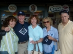 Class of '64 Supper Club at the Somerset Patriot's Baseball Game, June 22, 2008.  Patti, Cliff, Barbara, Geri and Ronn