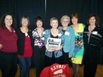 Class of '64 Cheerleaders: Andrea, Colleen, Kathy, Donna, Cindy, Barbara, Patti