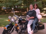Doug and Judy Wheat on his new Harley!