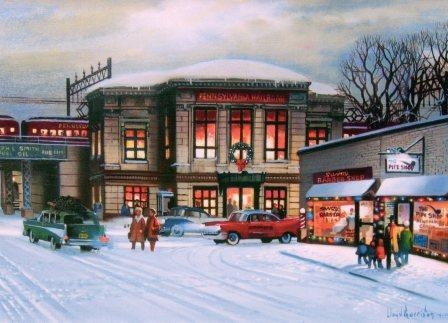 Lloyd Garrison's 2010 Christmas Card - Rahway Train Station 1960's