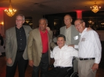 2012 Reunion-L-R Ward Ladeau, Doug DeLeaver, Johnny Ludwig, Jon Lewis and Alan Gilchrist