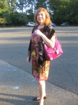 Madelane Alty ready to go to the 2012 reunion.....outside the Gran Centurians in Clark NJ