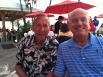 Vic Jones and Dave Cruikshank sharing old times at the Beach House on Anna Marie Island on April 16,2013