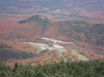 Vic & Janice Jones enjoying the White Mountain foliage looking down from the Ariel Tramway on Cannon Mountain towards In