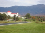 Mount Washington Hotel in Bretton Woods NH with Mt. Washington in the background