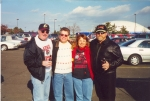 Carol Horling (Mastrangelo), Larry Betty, john Pekarsky, Bill Koszan at Giants Stadium for a RHS football game